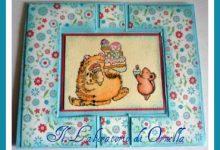 Card con colorazione distress ink e pennarelli acquarellabili