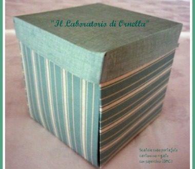 Cubo portafotografie in cartoncino