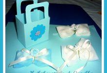 Borsettine portaconfetti azzurro e blu come il cielo –