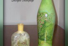 Bottiglie in vetro Decoupage