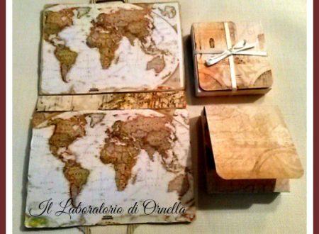 Valigia tea box e busta auguri buon viaggio