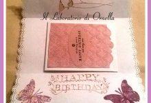 Busta decorata con card compleanno
