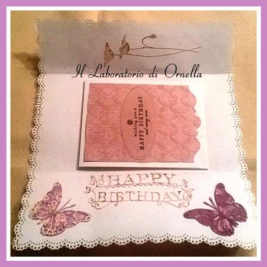 Busta decorata per biglietto compleanno