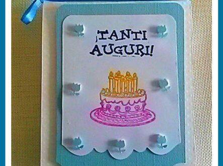 Biglietto compleanno con busta decorata