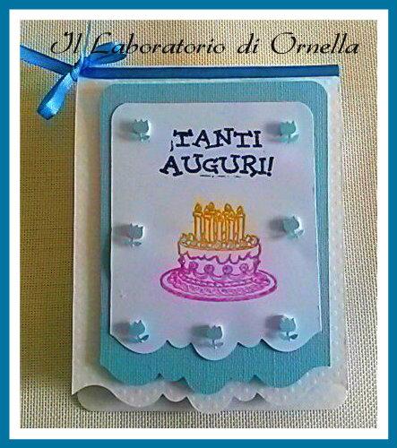 Card Compleanno con busta decorata